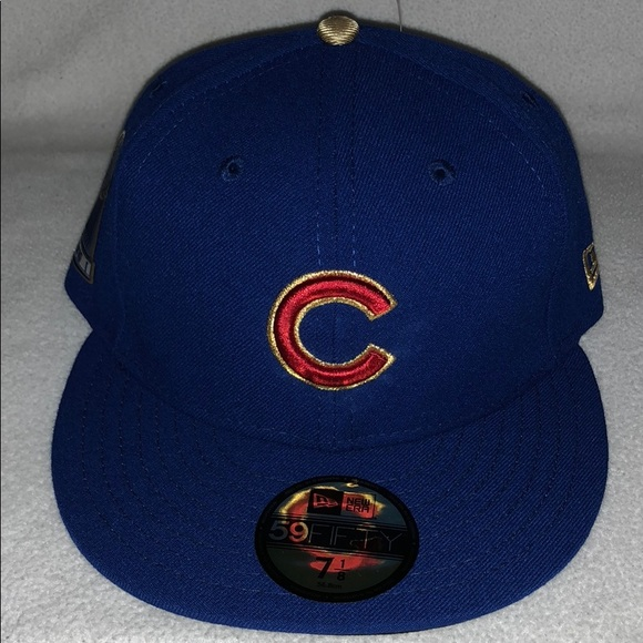 Rare Chicago Cubs World Series Champion Fitted Hat b28fba5b2380